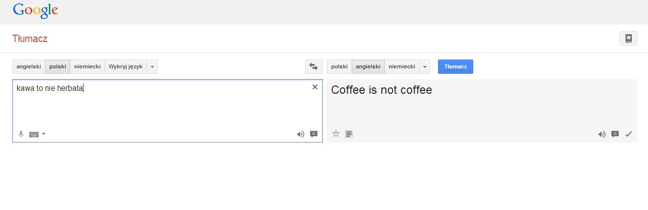 kawa to nie herbata